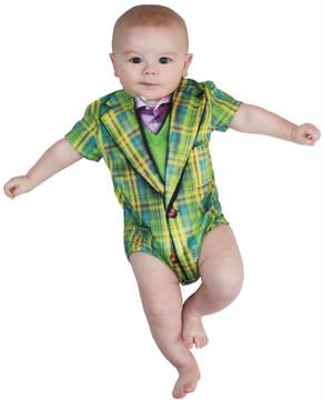 Faux Real Infant Plaid Suit Romper
