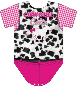 Faux Real Infant Cowgirl Romper - Back