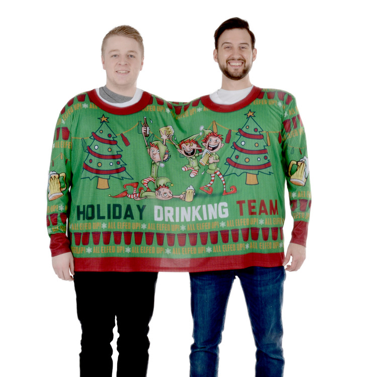 all elfed up double tee - Redneck Christmas Sweaters