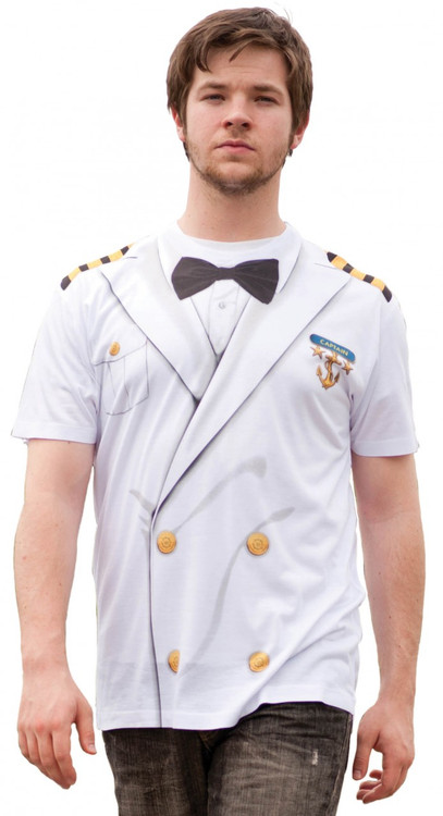 Faux Real Captain Uniform Front View