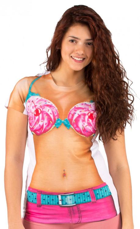 Faux Real Cupcake Bikini Front View