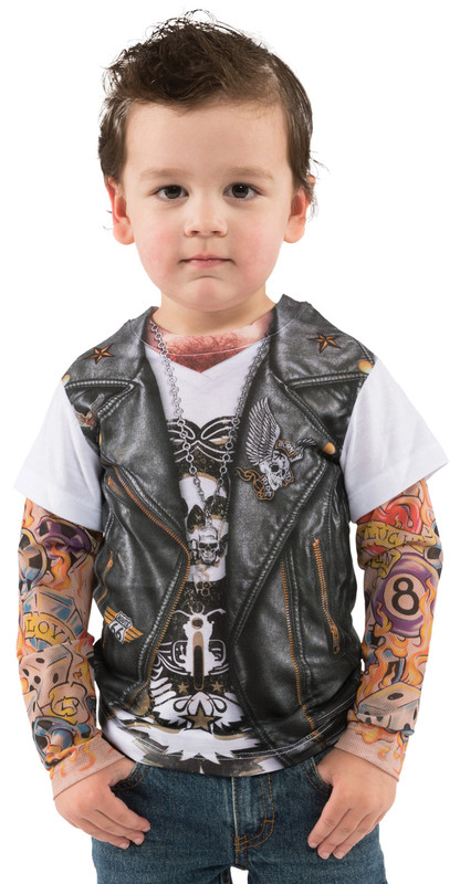 Toddler Tattoo Vest Faux Real