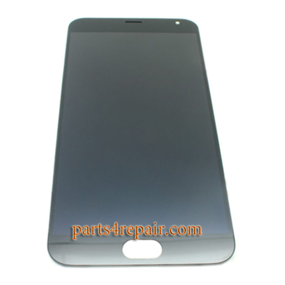 Complete Screen Assembly with Bezel for Meizu MX5 -Black