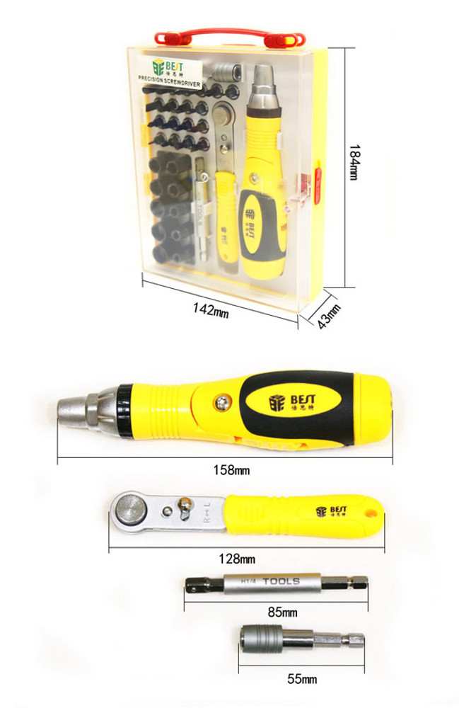 BST-2888 35 in 1 Multi-purpose Precision Screwdriver Set with Magnetic