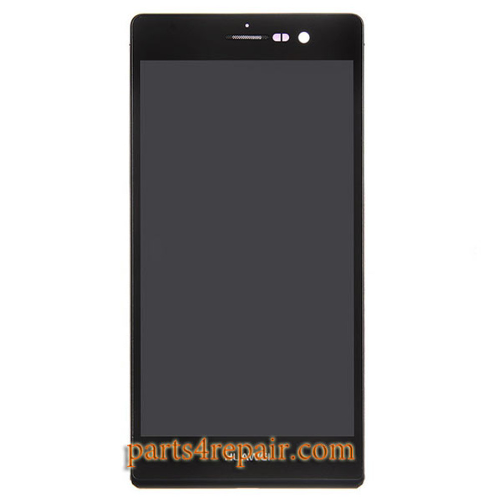 Complete Screen Assembly with Bezel for Huawei Ascend P7 -Black