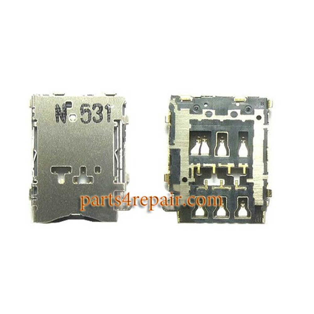 SIM Card Reader for Samsung Galaxy A3 A5 A7 from www.parts4repair.com