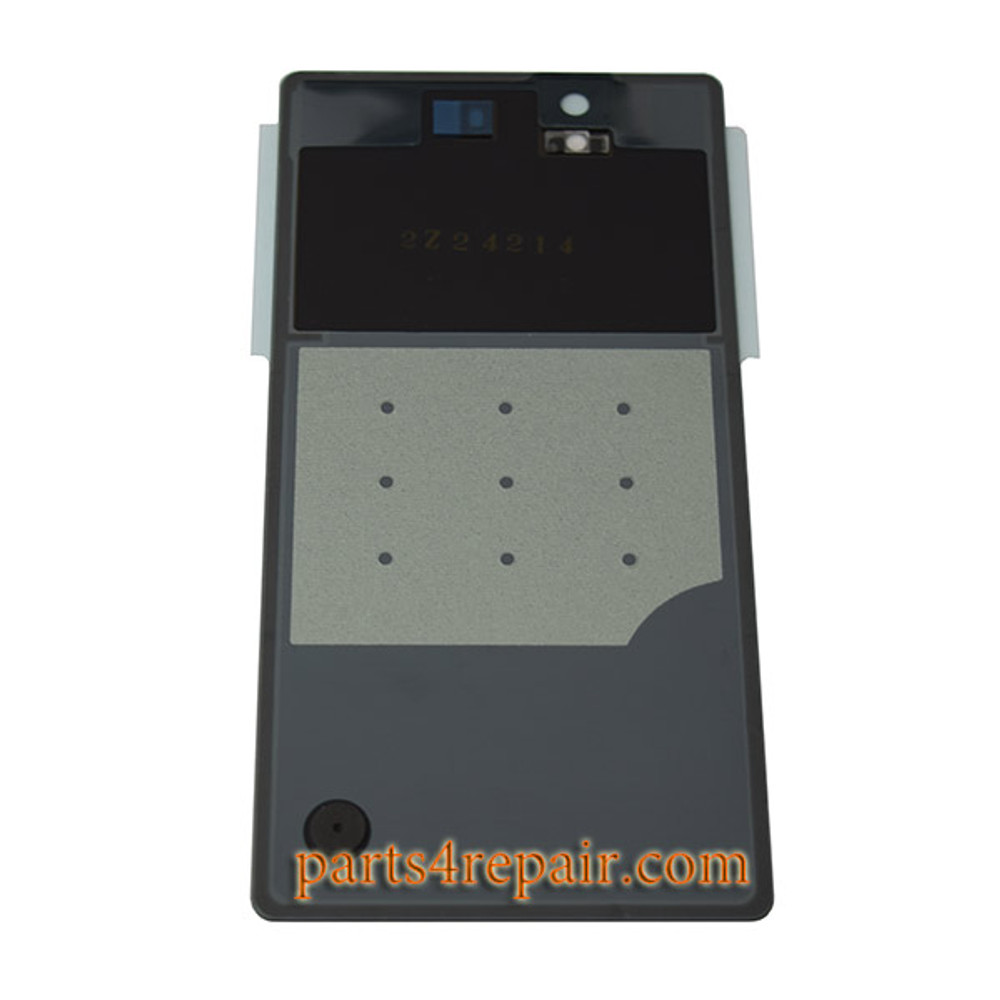 Back Cover OEM with Tempered Glass for Sony Xperia Z L36H -Black (Japan Version)