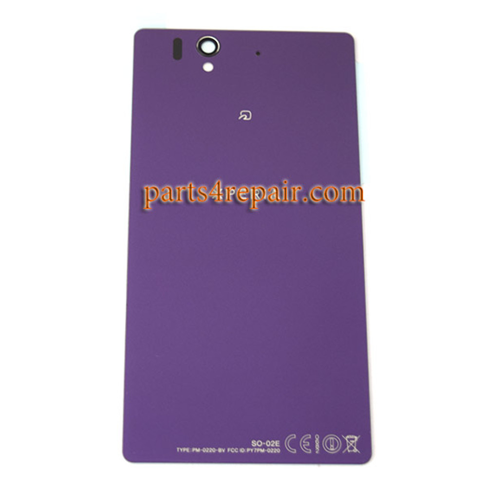 Back Cover OEM with Tempered Glass for Sony Xperia Z L36H -Purple (Japan Version)