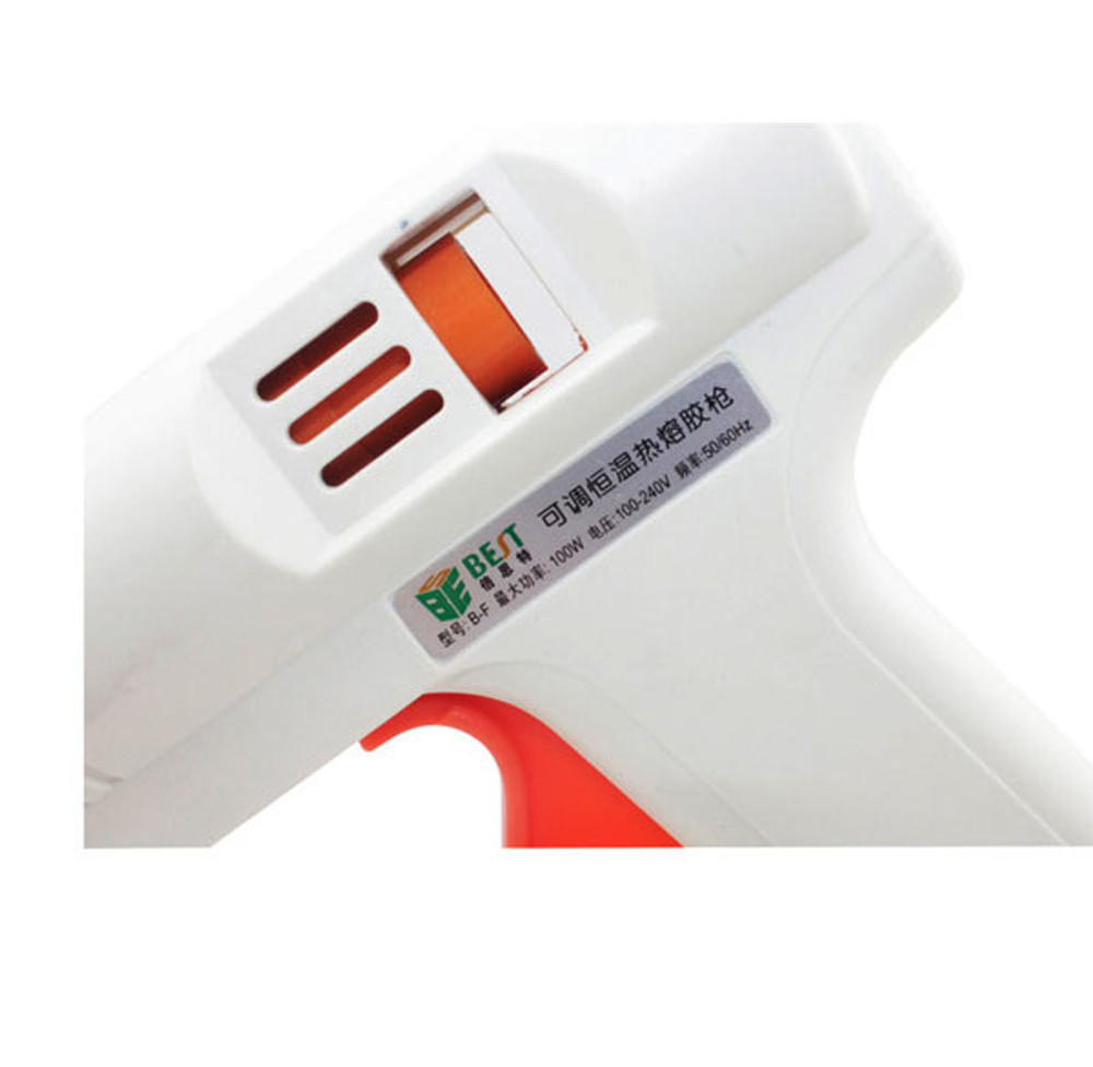 BST-B-F 100W Hot Melt Mini Glue Gun with 5pcs 11mm Glue Sticks