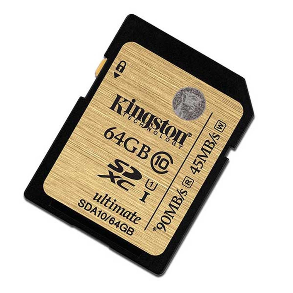 Kingston 64GB SDXC Memory Card 90MB/S Read 45MB/S Write UHS-I Flash Card