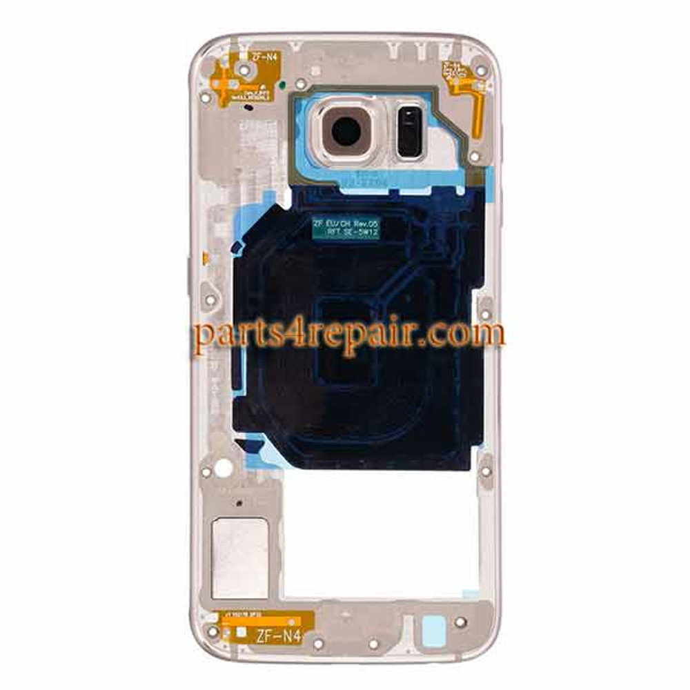 Middle Housing Cover for Samsung Galaxy S6 G920T -Gold