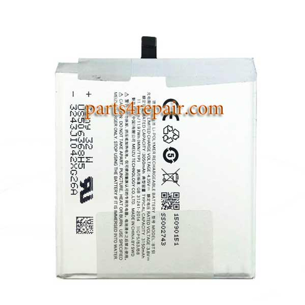 Built-in Battery for Meizu MX5 from www.parts4repair.com