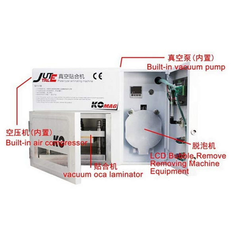 Vacuum OCA Laminating and Air Bubble Removing Machine for LCD Screen Up to 7 inch