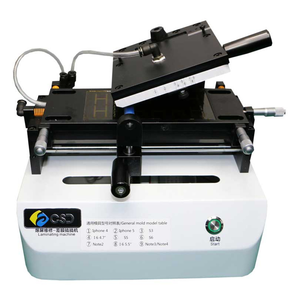 Universal Polaizing OCA Film Laminating Machine Built-in Vacuum Pump for Glass up to 5.7 inch