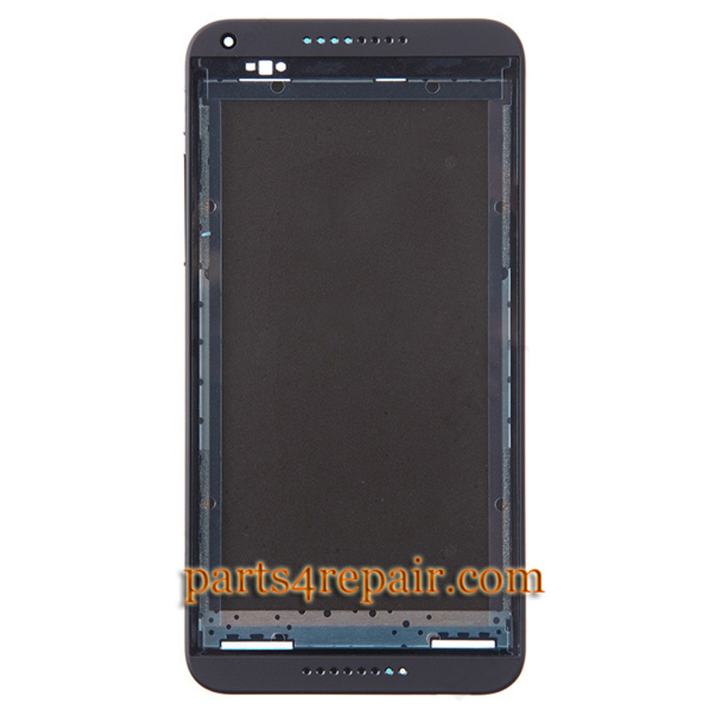 Front Housing Cover with Side Keys for HTC Desire 816G -Black from www.parts4repair.com