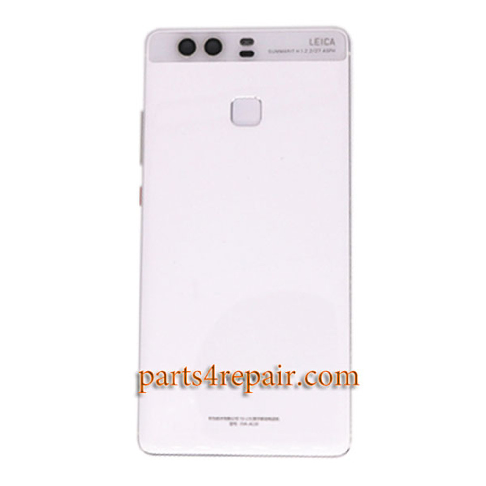 Back Housing Cover with Fingerprint Sensor Flex Cable for Huawei P9 Plus -White