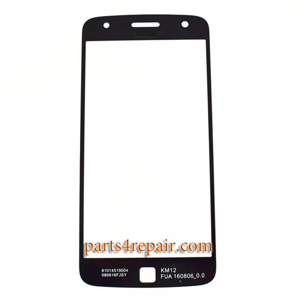 Front Glass OEM for Motorola Moto Z Play -Black