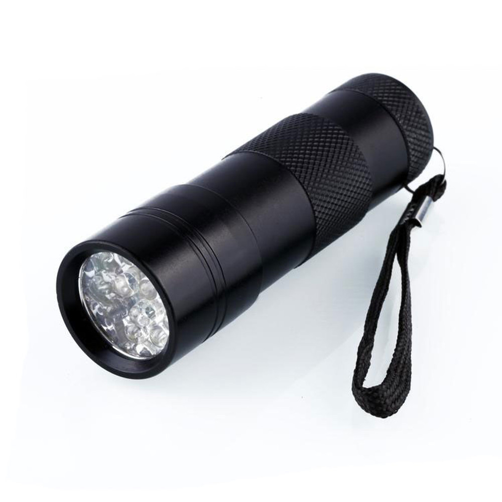 12 LEDs 395nm UV Light Flashlight Lamp for LOCA Glue Curing
