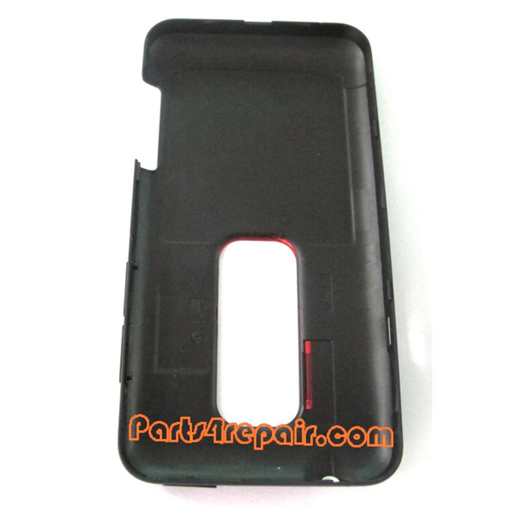 Back Cover for HTC EVO 3D -Black