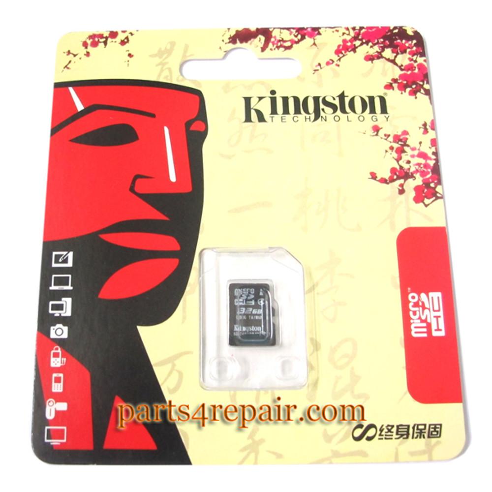 Kingston 32GB Micro SD Class 4 Memory Card from www.parts4repair.com