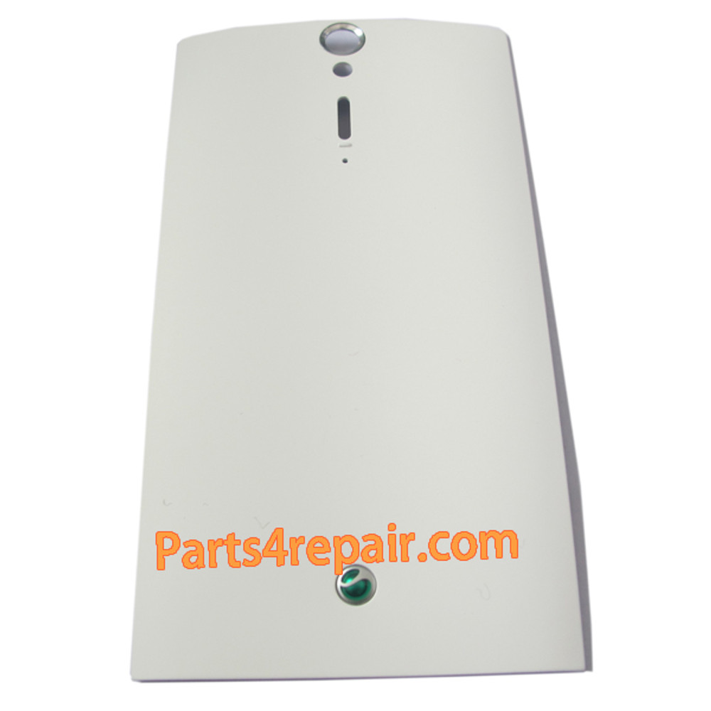 Sony Xperia S Battery Cover -White from www.parts4repair.com