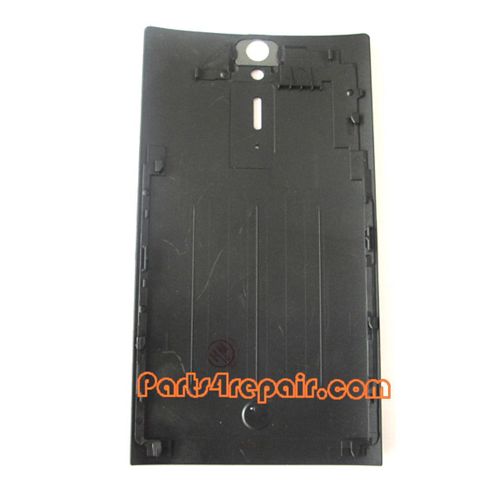 Battery Cover with ring for Sony Xperia S -Black
