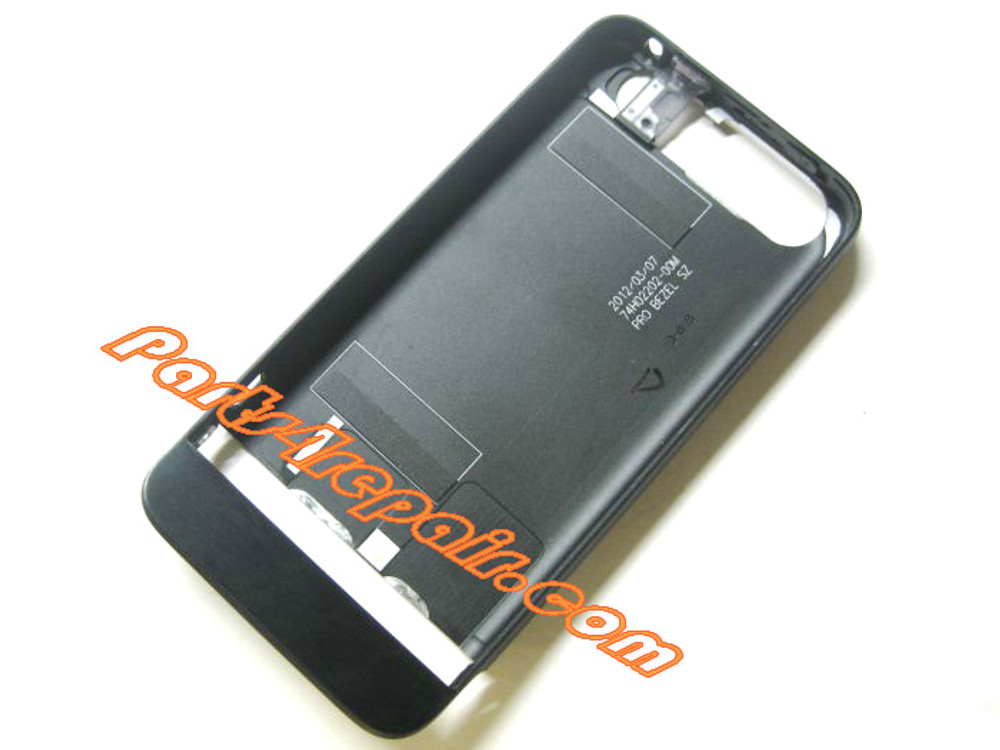 Metal Frame Battery Cover for HTC One V -Black