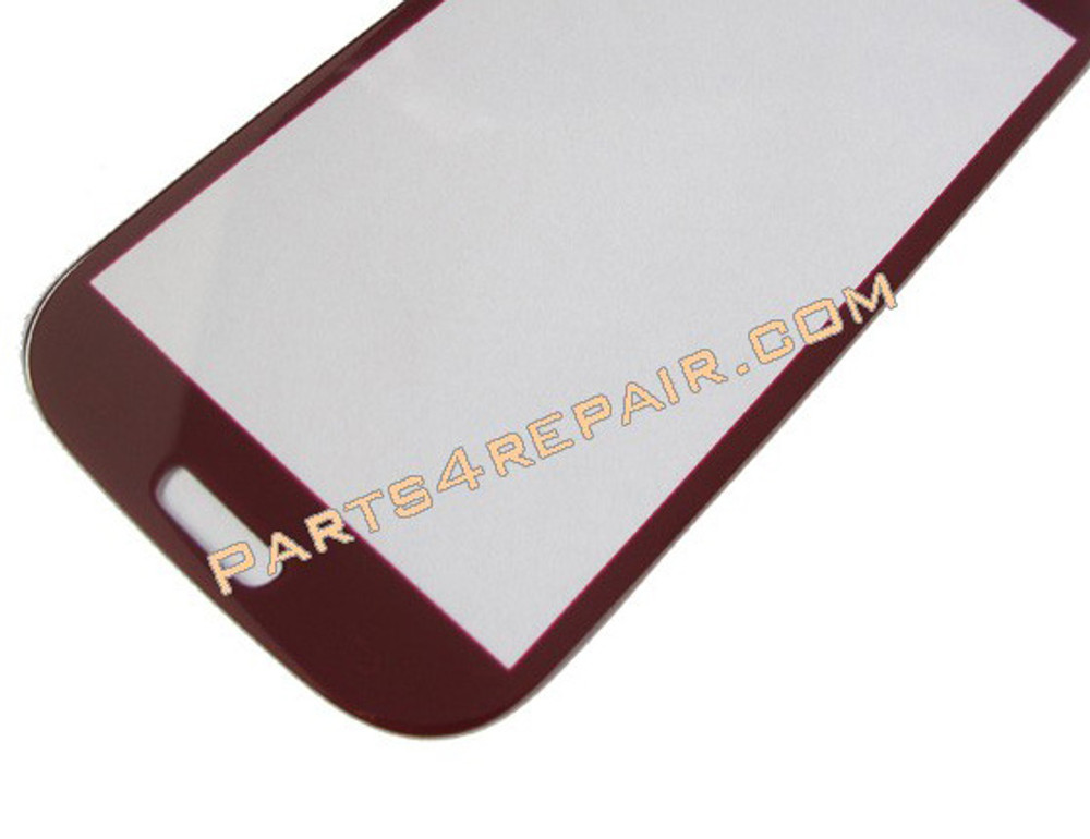 Samsung I9300 Galaxy S III Front Glass Touch Lens -Red from www.parts4repair.com