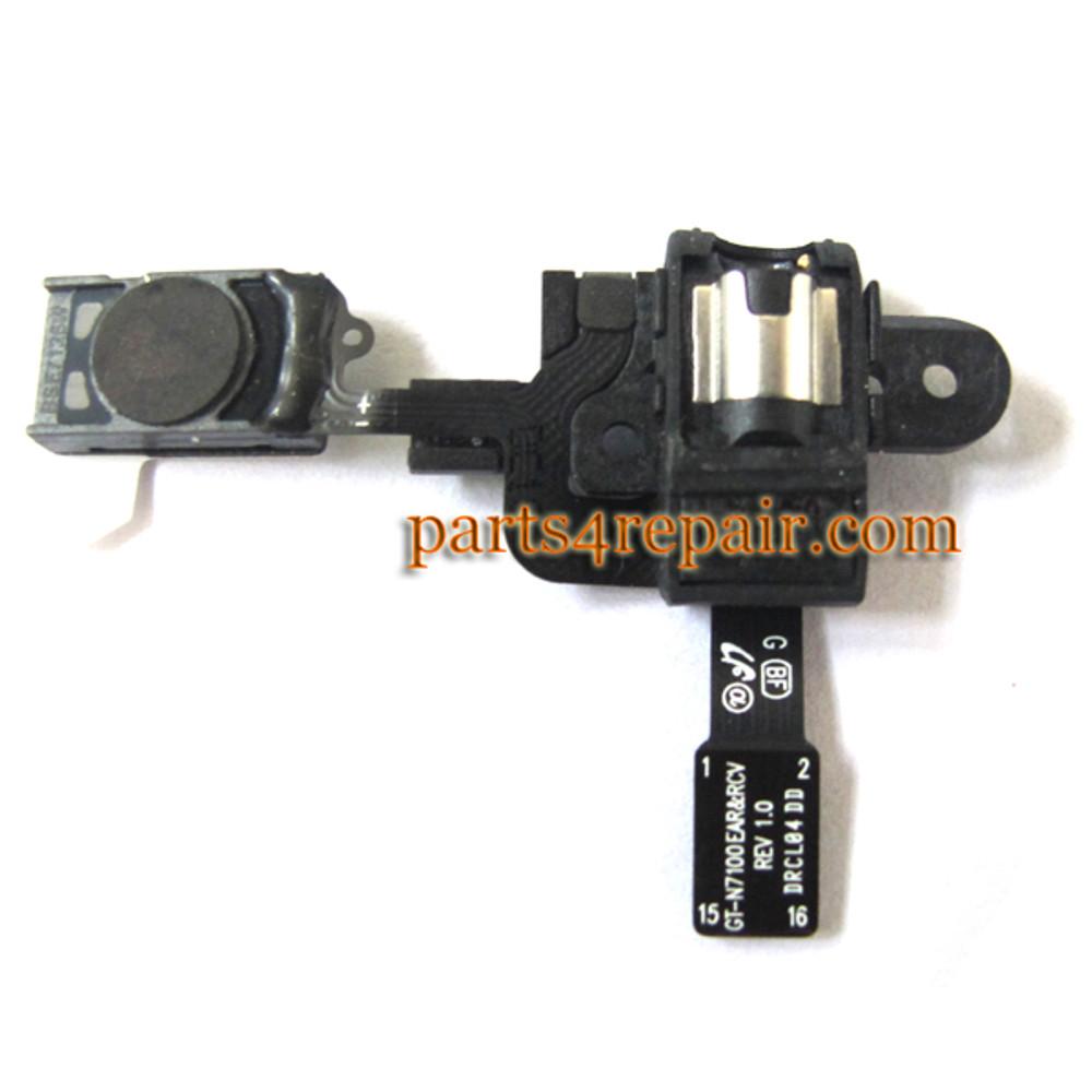 Samsung Galaxy Note II N7100 Earpiece Speaker Flex Cable from www.parts4repair.com