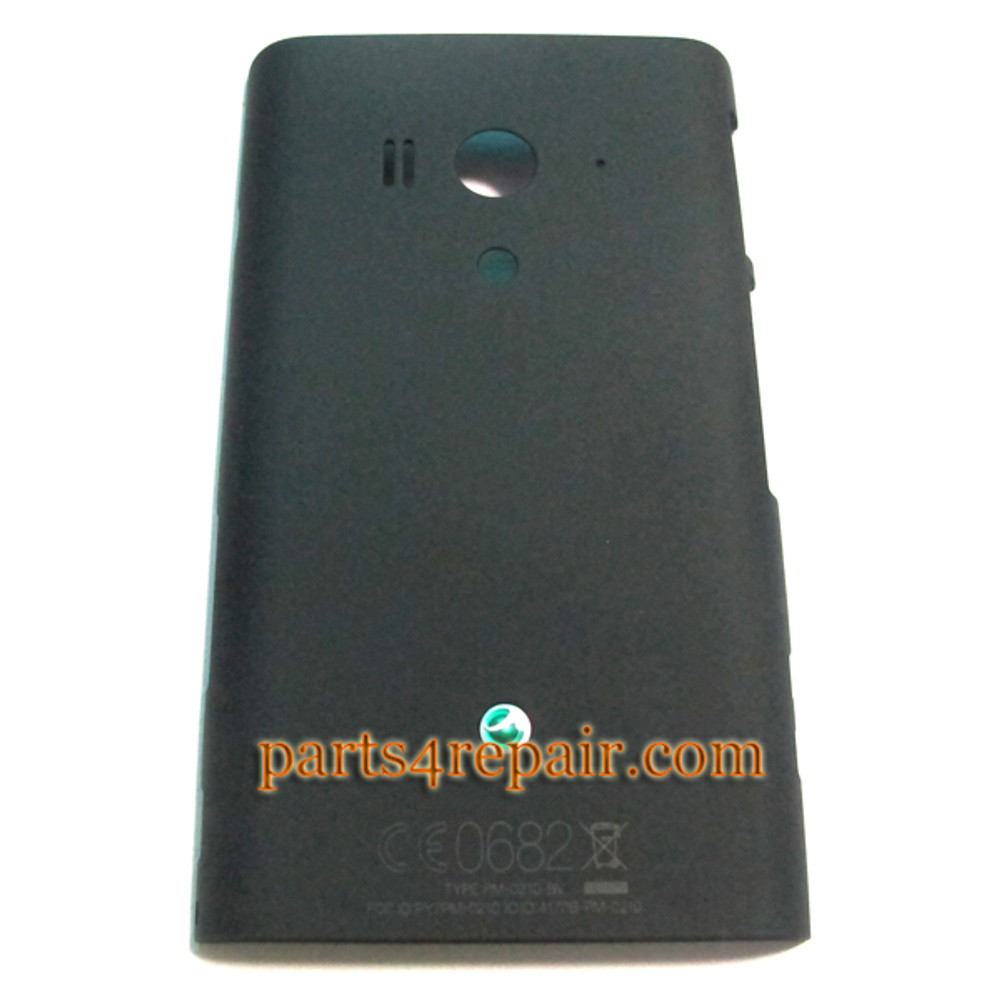Sony Xperia acro S LT26W Back Cover -Black from www.parts4repair.com