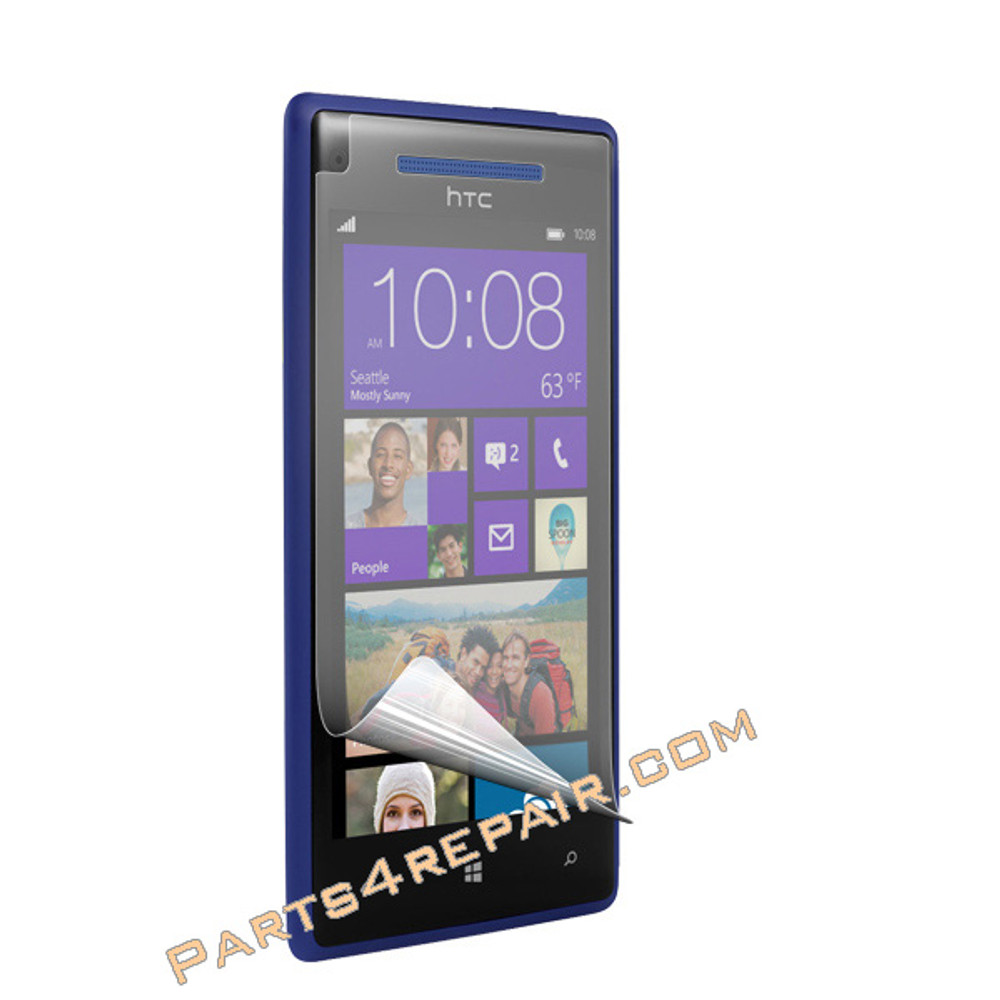 HTC Windows Phone 8X Clear Screen Protector Shield Film -3X from www.parts4repair.com