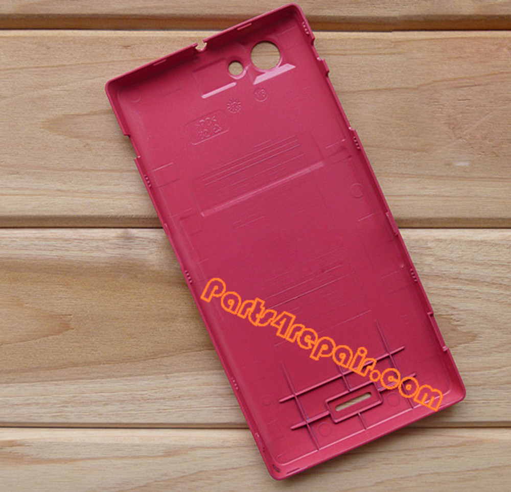 Back Cover for Sony Xperia J ST26I -Red from www.parts4repair.com