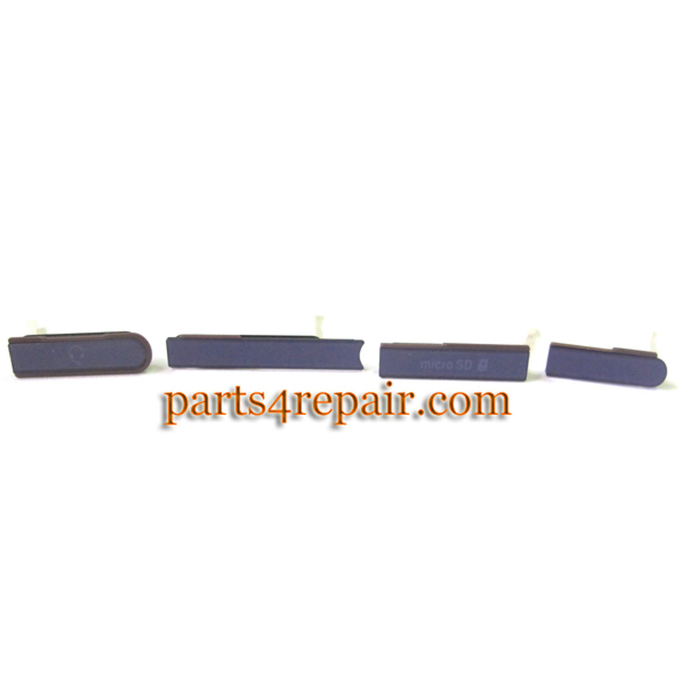 SIM Cap Set for Sony Xperia Z L36H -Purple from www.parts4repair.com