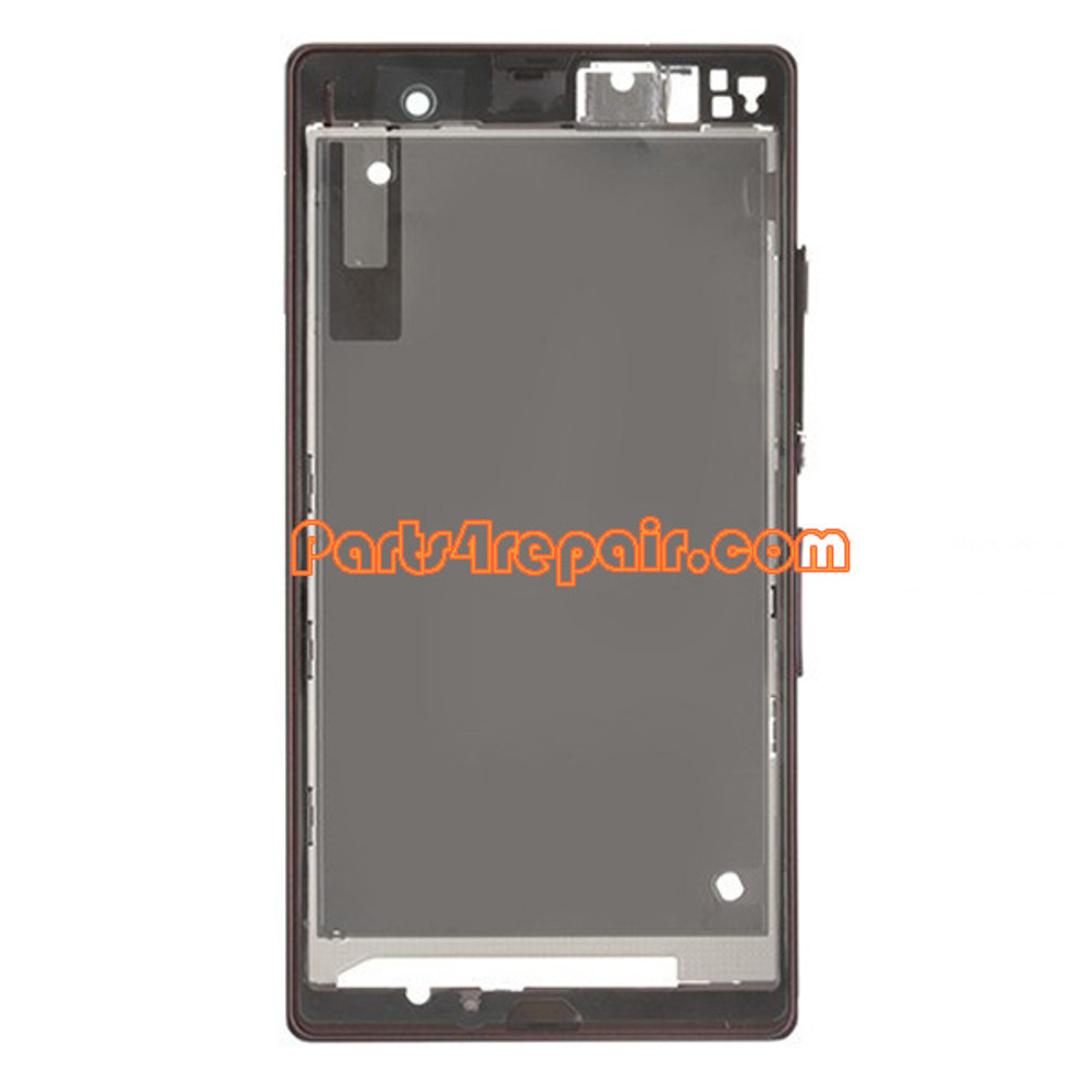 Front Housing Cover for Sony Xperia Z L36H -Black
