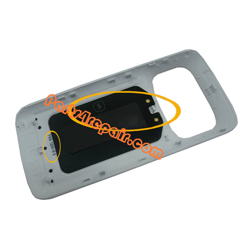 Back Cover with NFC for Nokia 808 Pureview -White
