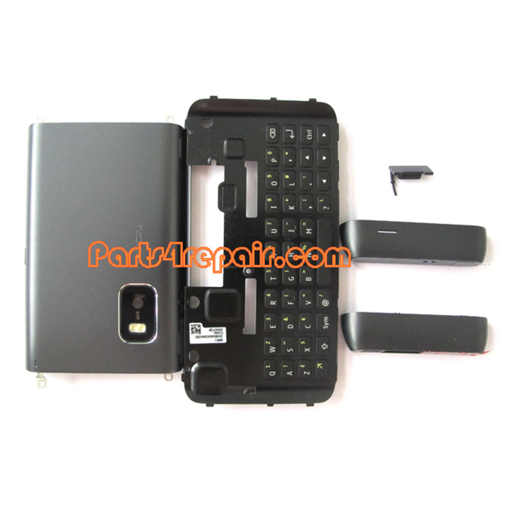 Full Housing Cover for Nokia E7 / E7-00 -Black