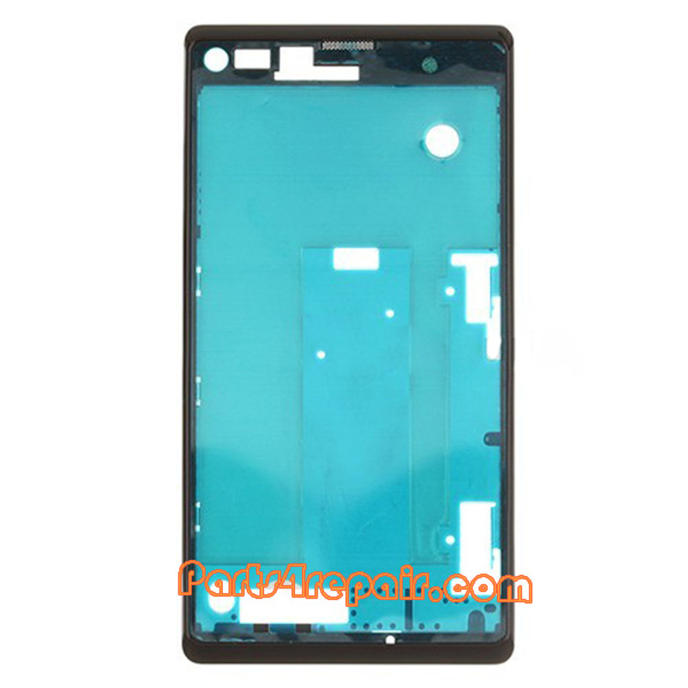 Front Cover for Sony Xperia L S36H -Black from www.parts4repair.com