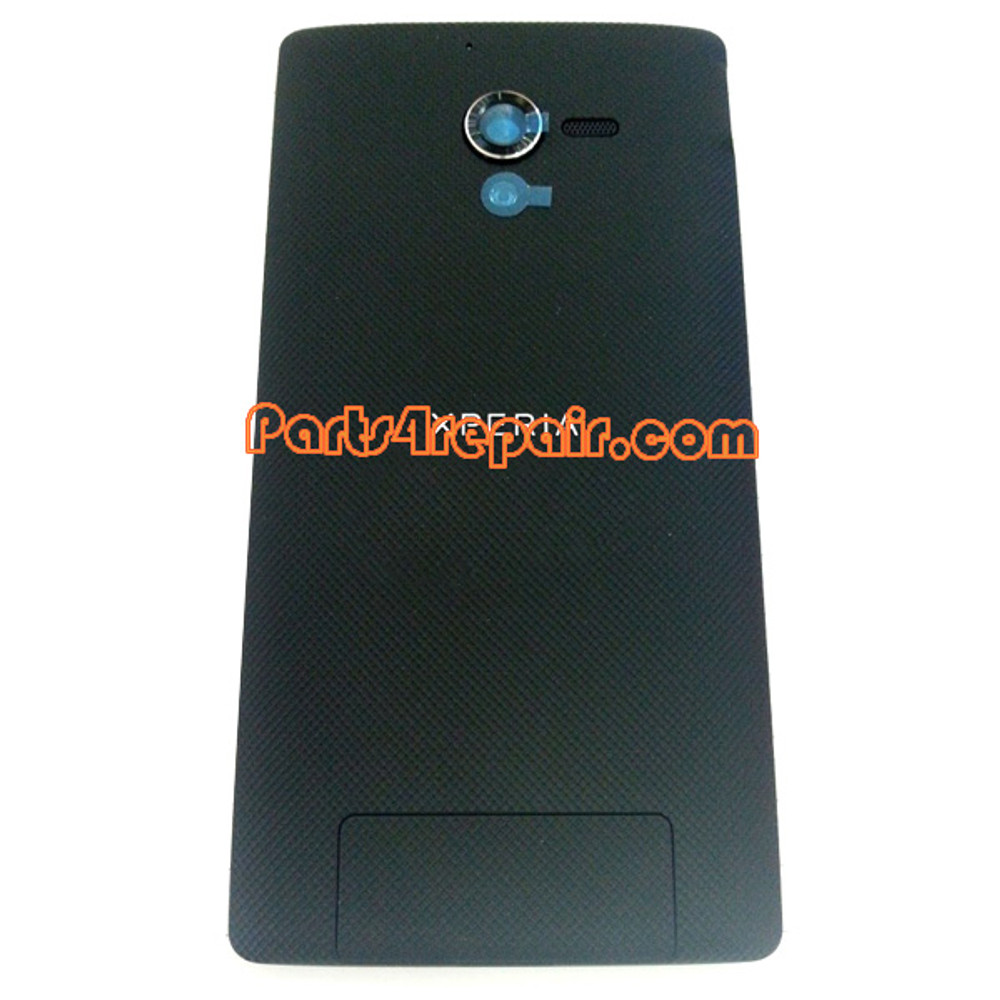 Back Cover for Sony Xperia ZL L35H -Black from www.parts4repair.com