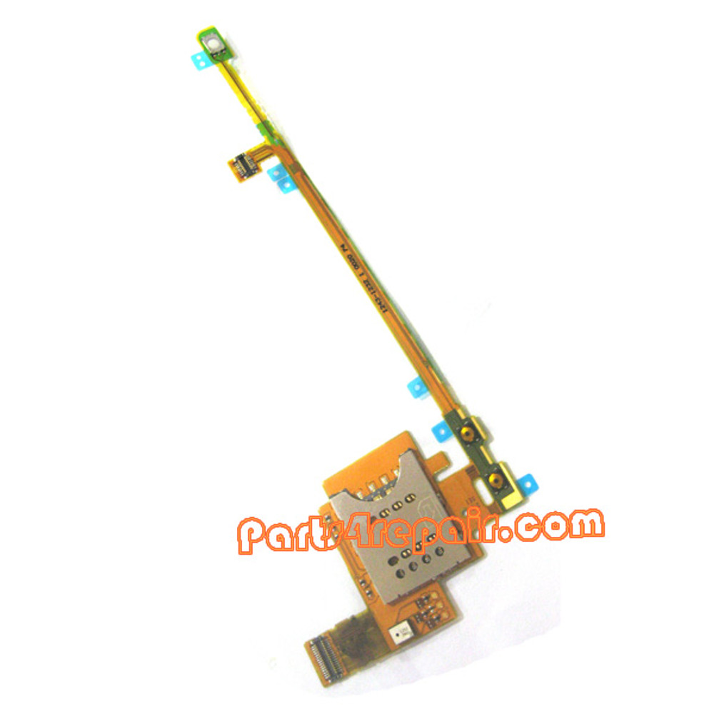 SIM Holder Flex Cable for Sony Ericsson Xperia Pro MK16I from www.parts4repair.com