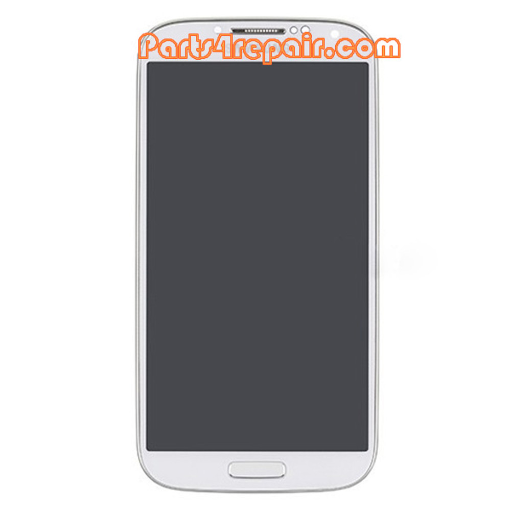 Complete Screen Assembly with Bezel for Samsung I9505 Galaxy S4 -White