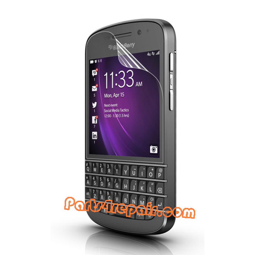 Clear Screen Protector Shield Film for BlackBerry Q10