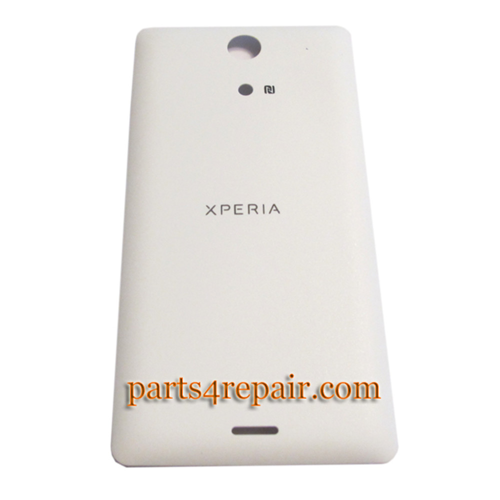 Back Cover for Sony Xperia ZR M36H -White from www.parts4repair.com