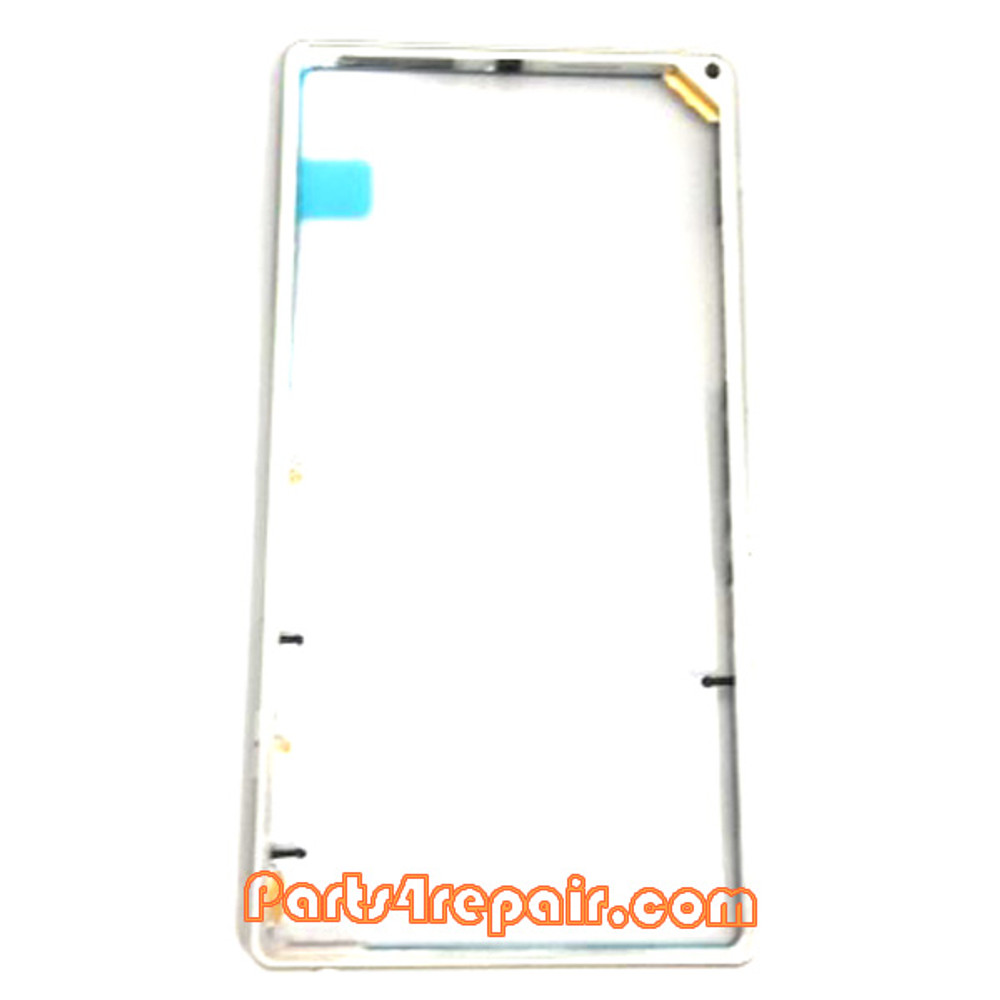 Middle Cover for Sony Xperia Z1 L39H -White from www.parts4repair.com