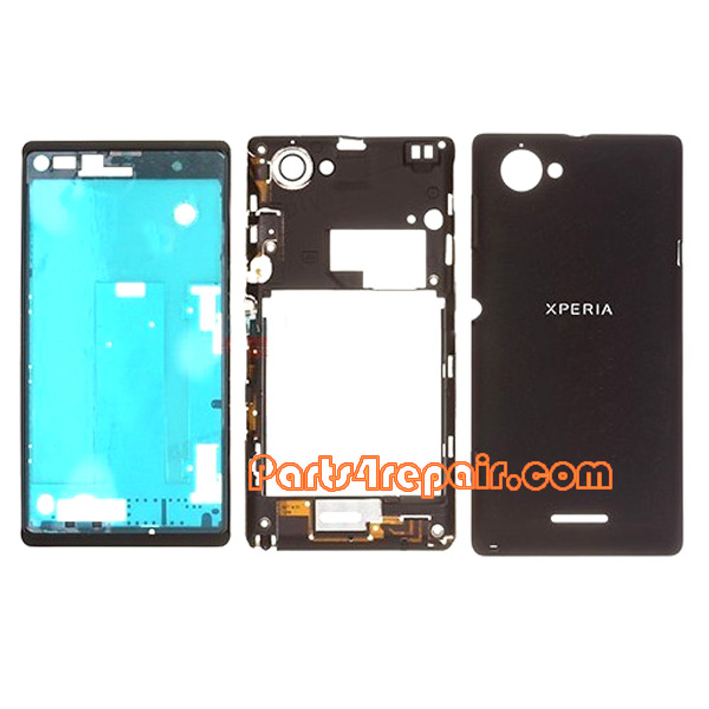 Full Housing Cover for Sony Xperia L S36H -Black
