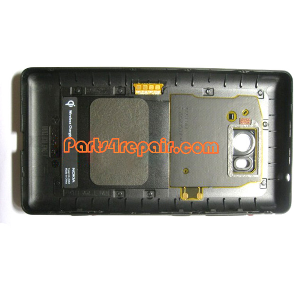 Back Cover for Nokia Lumia 810 (T-Mobile) with Wireless Charging Coil -Black