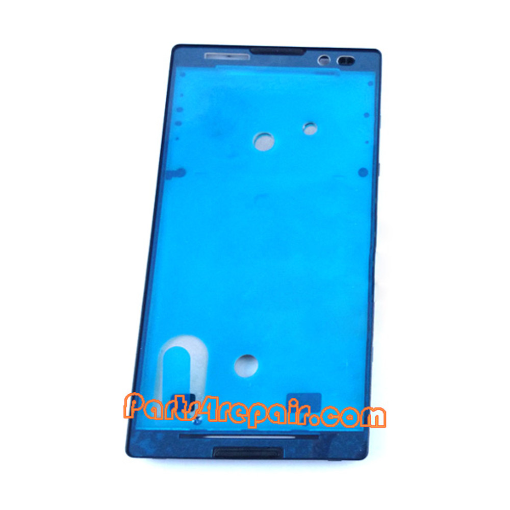Front Housing Cover for Sony Xperia C S39H -Black from www.parts4repair.com