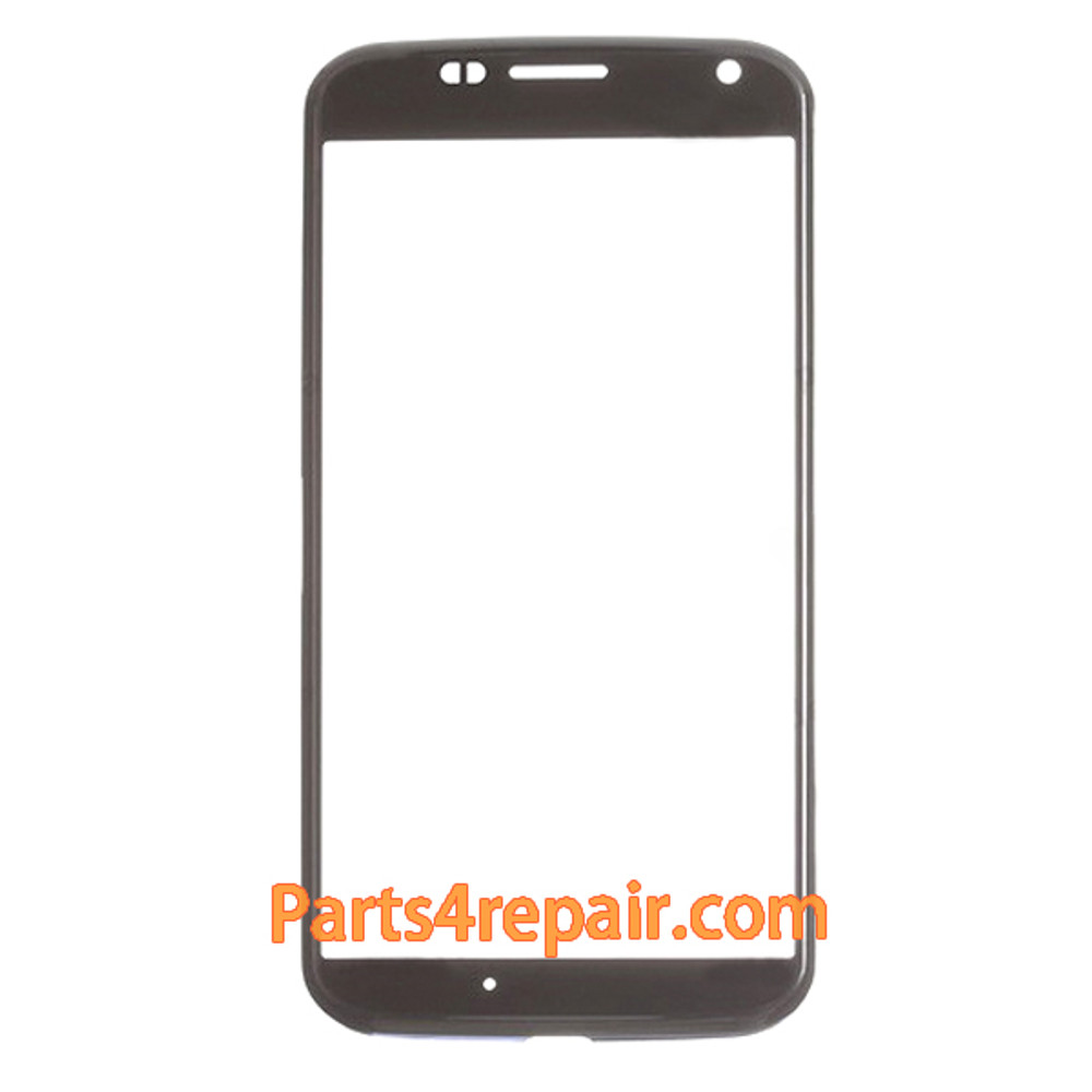 Front Glass with Bezel for Motorola Moto X -Black from www.parts4repair.com