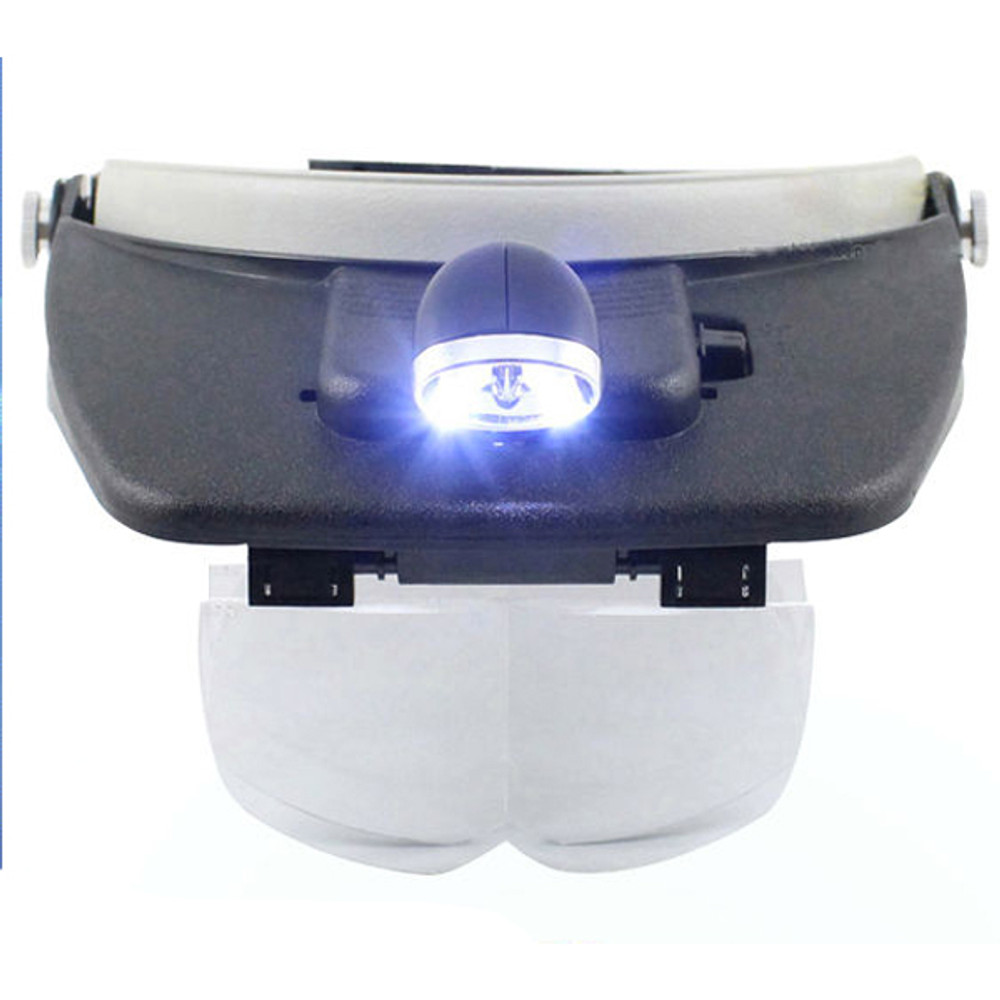 MG81001-A Adjustable Light Head Headhand Magnifier Lopue