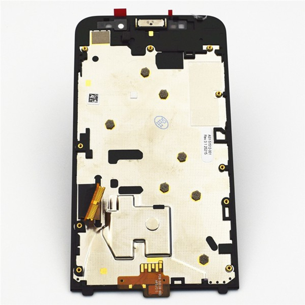 back side of Complete Screen Assembly with Front Bezel for BlackBerry Z30