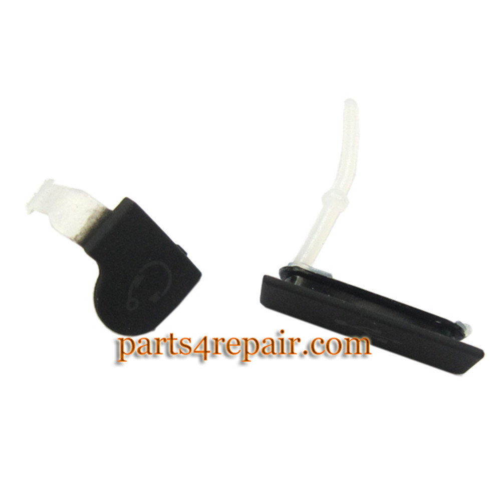 Earphone Plug Cover for Sony Xperia go st27i -Black from www.parts4repair.com